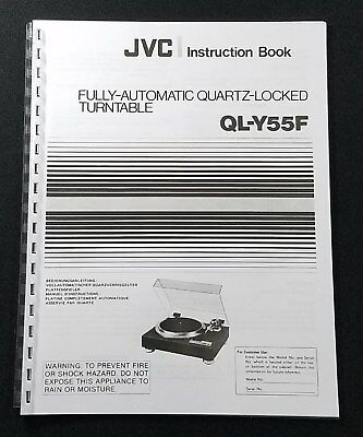 JVC QL-Y55F Turntable Instruction /& Service Manuals ULTRA RARE ~ LOOK ~ !!!