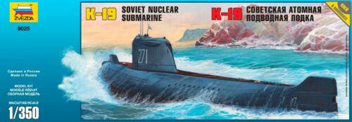 1:350 Zvezda #9025 K-19 Soviet Nuclear Submarine Project 658 Hotel-class