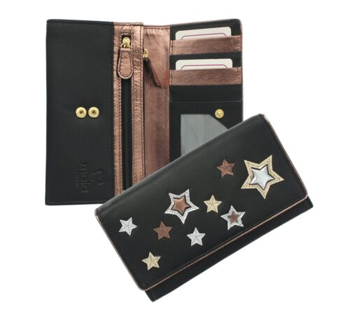 Mala Leather SIRIUS Collection Applique Leather Ladies Purse 3413_1