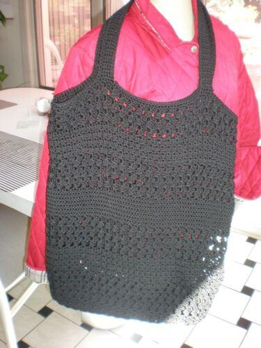 mano crochet punto crochet de punto a mano de negro negro hobo bolso de Nuevo de hecho de w0Z1BnPqnY
