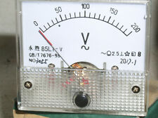 One New 200 120 Vac Ac Volt Analog Pointer Needle Line Panel Meter Voltmeter Usa