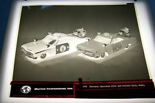 #1844 PHOTO NEGATIVE - 1960s TOYS - SKYLINE TOY - POLICE AND FIRE CARS