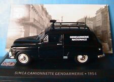 SIMCA CAMIONNETTE TOLEE GENDARMERIE NATIONALE 1954 IXO 1/43 POLICE DE LA ROUTE