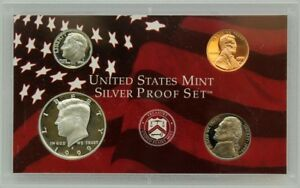 1999-S-Partial-Silver-Proof-Set-Kennedy-Half-Dime-Nickel-amp-Cent-4-Coins