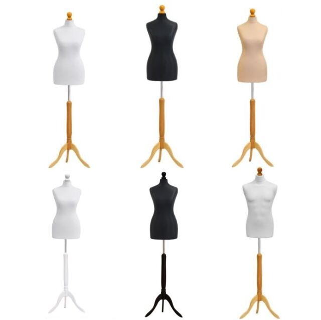 Dressmakers dummy female MANNEQUIN tailors Size 10-12 WHITE stand