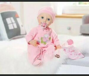 "Baby Annabell 17"" Soft Skin & Body~Blue Eyes She Drinks ..."