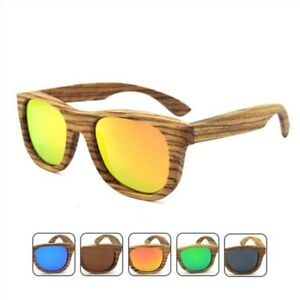 81858c2e00 New Polarized Zebra Wooden Sunglasses Men Glasses Blue Coffee Orange ...