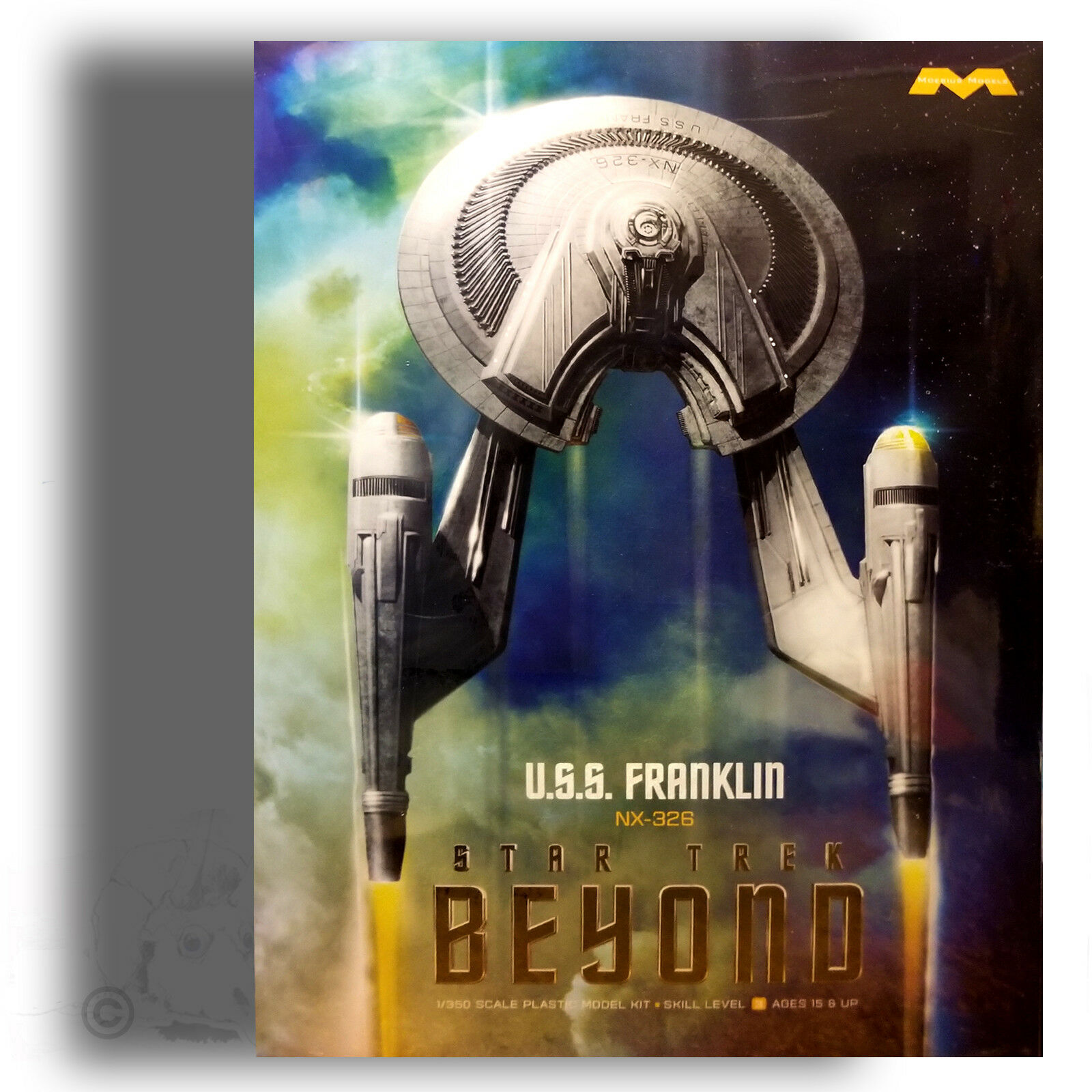MOEBIUS MODELS 1 350 U.S.S. FRANKLIN 'STAR TREK BEYOND' MODEL KIT 975