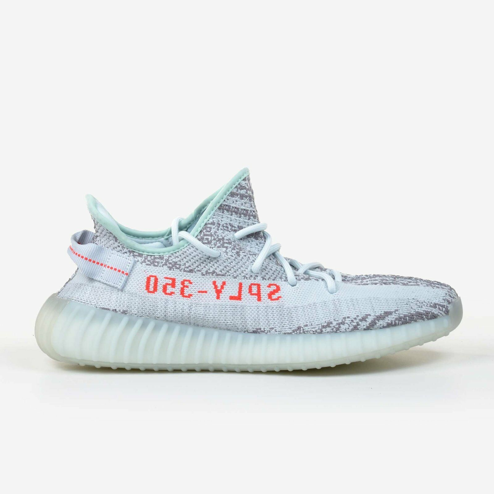 Adidas Yeezy Boost 350 V2 Size 10 bluee Tint Grey Red Same Day Shipping DS B37571