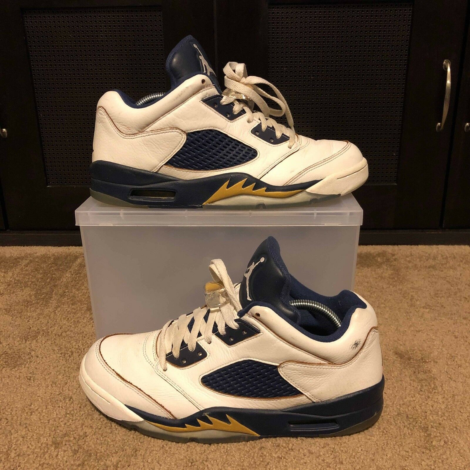 Air Jordan 5  Low Dunk From Above 819171-135 Size 9.5 USED