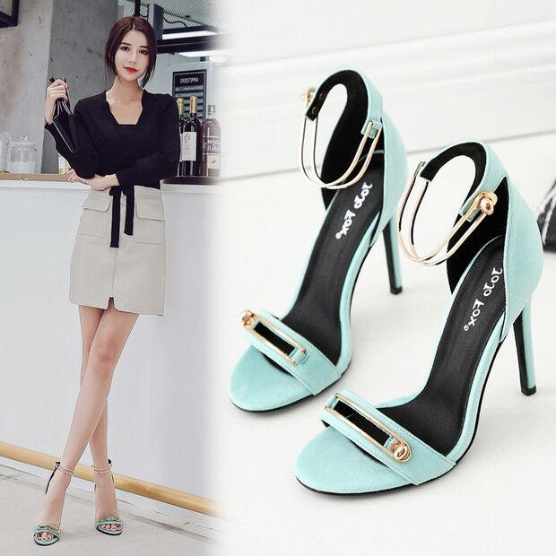 Sandalei eleganti tacco 11 stiletto 11 tacco cm azzurro oro simil pelle eleganti 9796 4a0146