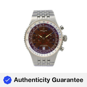 Breitling Navitimer Montbrillant Legende Steel Brown Dial Mens Watch A23340