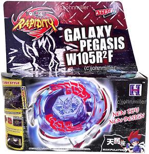 Galaxy Pegasus Pegasis Metal Fury Beyblade Set Nip Launcher