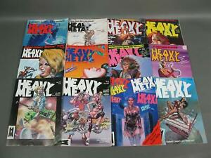 15-Complete-1985-Heavy-Metal-Adult-Illustrated-Fantasy-Comic-Magazine-Series-Lot