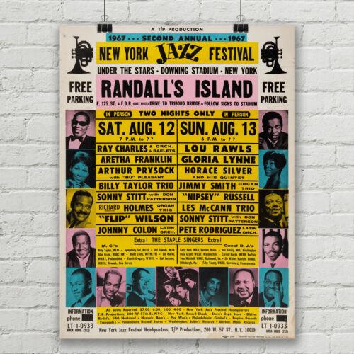 Aretha Franklin Ray Charles Concert Poster NY Jazz Festival Canvas Art Print