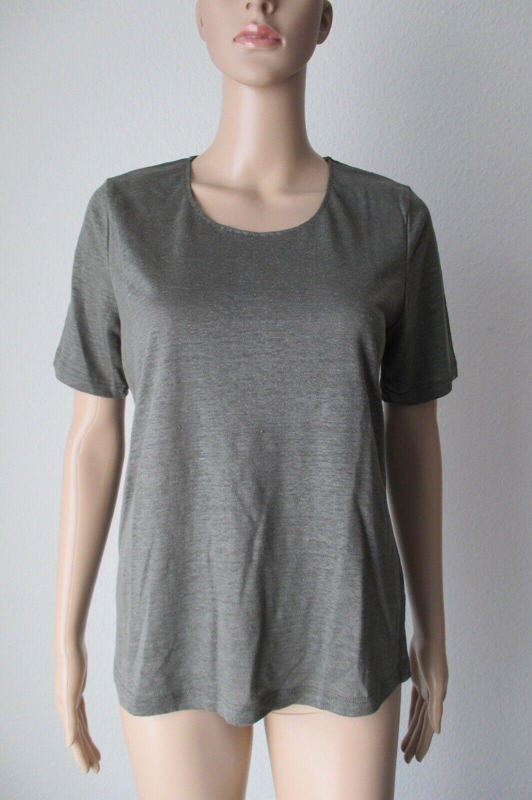 Efixelle 1 2 Arm Shirt, 100 % Leinen in der Farbe olive, Größe 44