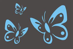 Wandschablone-Schablone-Kinderschablone-Malerschablonen-Schmetterlinge-XXL