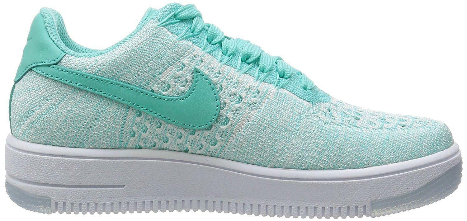 official photos 0c5b3 02653 femmes Nike AF1 Flyknit Low Hyper Turquoise Trainers 820256 300