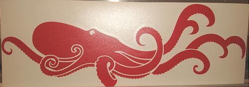 "12/"" Hawaiian Vinyl Tako Octopus Car Decal Sticker #8R"