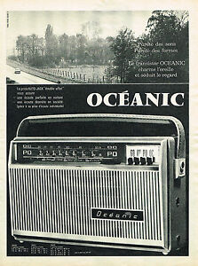 PUBLICITE-ADVERTISING-1961-OCEANIC-transistor