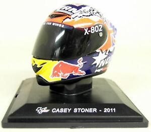 Altaya-1-5-Scale-Casey-Stoner-2011-Nolan-Moto-GP-Helmet-with-Plinth-and-Case