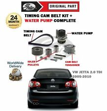FOR VW JETTA 2.0 TDI 2005-2010 TIMING CAM BELT TENSIONER KIT + WATER PUMP