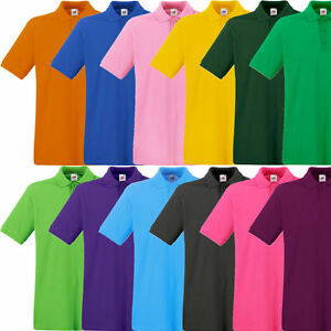Fruit-of-the-Loom-Premium-Poloshirt-Polo-T-Shirt-S-M-L-XL-XXL-3XL