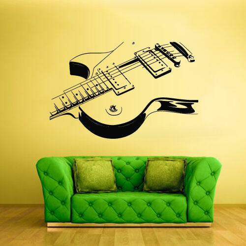 Z1299 Wall Decal Vinyl Sticker Decals Guitar Music room decor art