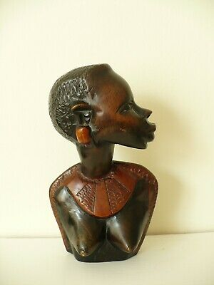 African Hand Carved Wooden Tribal Stool in Antiques