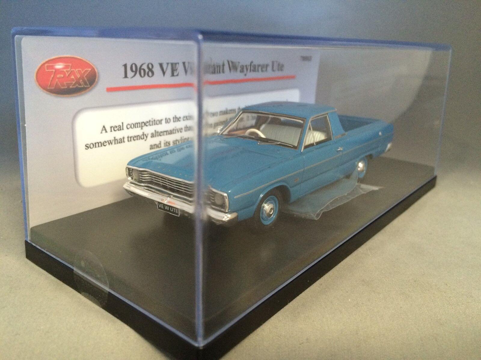 1 43 TRAX TRR63  1968 VE Valiant Wayfarer Wayfarer Wayfarer Ute - bluee 67fb85