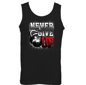NUNCA-Give-Up-Hombre-Entrenamiento-Con-Pesas-Camiseta-Top-Gimnasio-Culturismo
