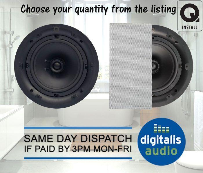 Qi65S Square Q Acoustics 6.5  Q Install Moisture Resistant Ceiling Speakers