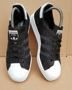 Black And Mint White Edition 6 Prime Knit Limited Uk 80's Superstar Adidas Size wXAqUIx