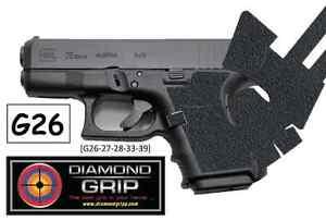 New Diamondgripp Glock 26 27 28 33 39 Silicone Rubber