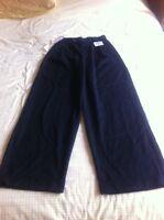 Nordstroms Necessary Objects Women's Pants Black 3 Trouser Leg (mg1.4)