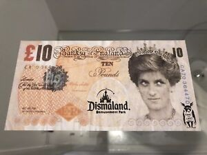 NEVER-SEEN-BEFORE-DISMALAND-039-Bemusement-Park-Stamped-Banksy-Tenner