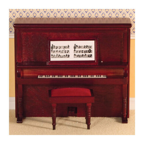 "# Dolls House 2114 Piano /""Victorian/"" Klavier Mahagoni 1:12 für Puppenhaus NEU"