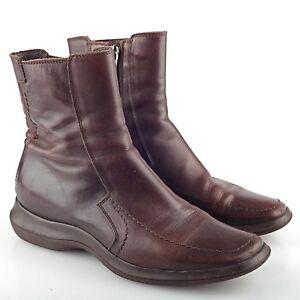 3b5cdec6367eaf Das Bild wird geladen Baldinini-Trend-Boots-Leder-braun-Schuhe-37- Reissverschluss-