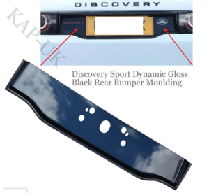 Dynamic Style Number Plate Moulding Gloss Black Fits; Land Rover Discovery Sport