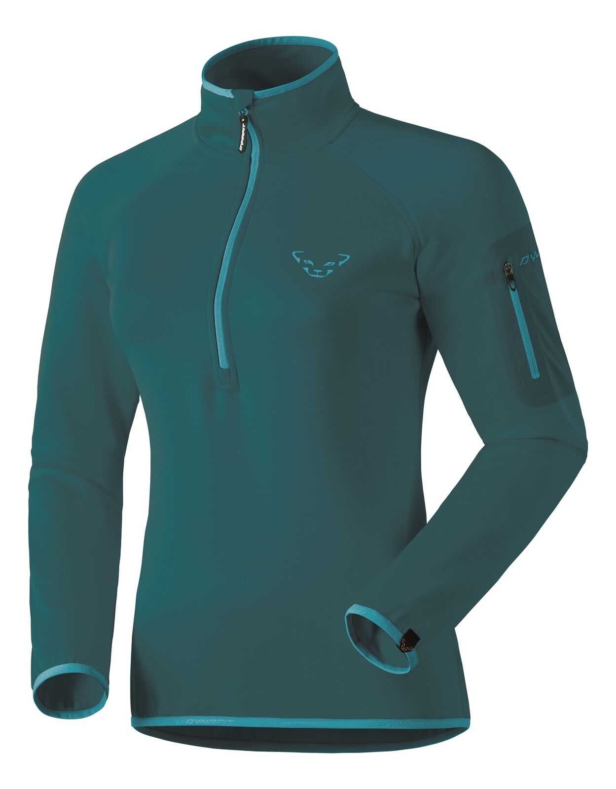 NEW Dynafit THERMAL FJORD Womens Large 1 2 Zip Running Midlayer T-Shirt Ret