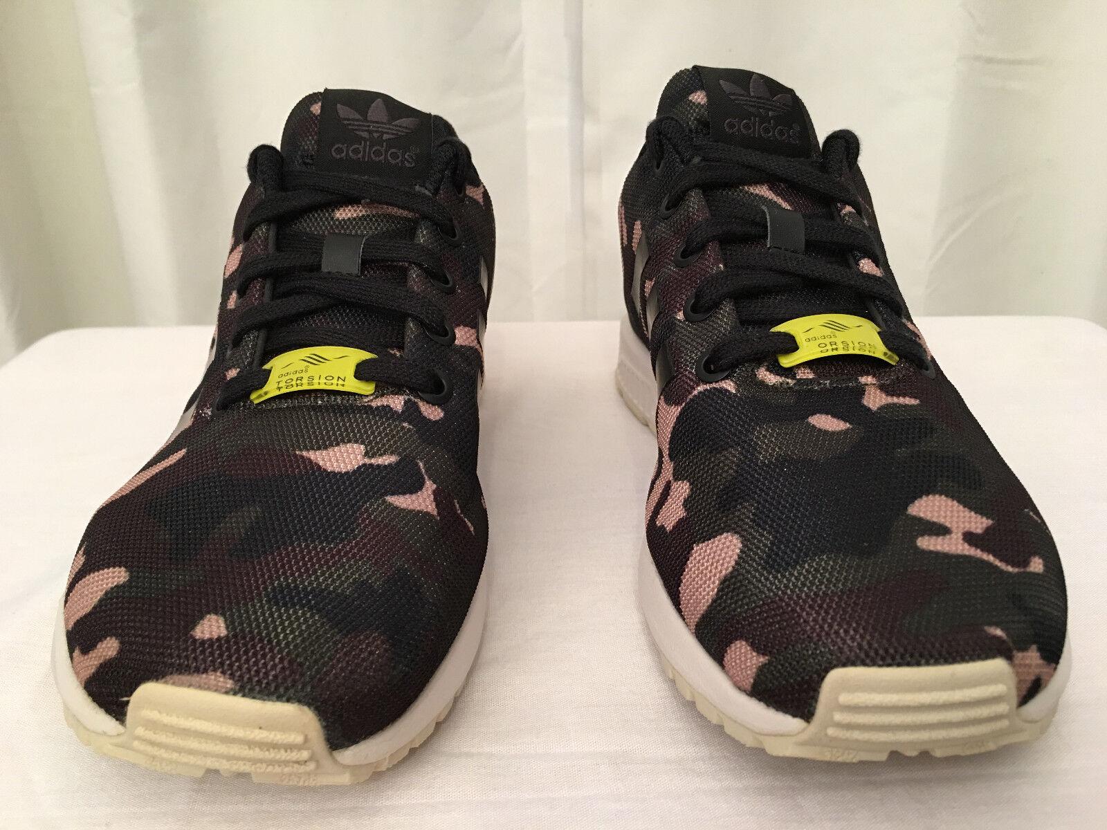 ADIDAS (B24377) Boys Mens ZX Flux Camo Torsion City Trainers shoes, Sz 5.5, EUC