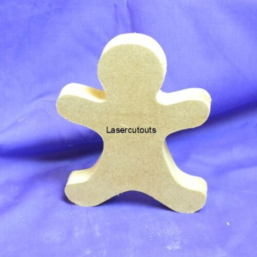 18mm Thick Freestanding Wooden MDF Blank Christmas Gingerbread man Craft Shape