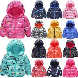 Bambina-Imbottito-Puffa-Giacca-Trapuntata-Caldo-Inverno-Cappotto-con-Cappuccio