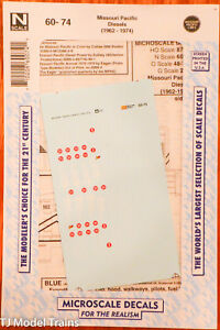 Microscale #60-75 y vmf121 N Southern Pacific Heavy Steam Locomotives Decals