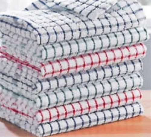 100/% Cotton Terry Tea Towels Set Kitchen Dish Cloths Cleaning Drying Multi Pack