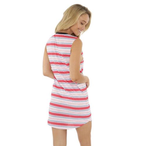LKI LOOSEKID LADIES UNDERLINE MUSCLE DRESS TANK TEE MELON RED L204B1007