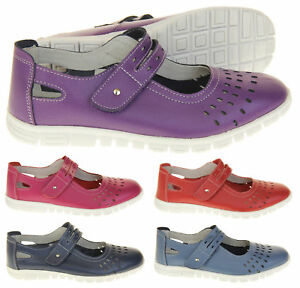 Ladies-Summer-Fruits-by-Coolers-Leather-Wide-Fit-EEE-Sandals-Size-4-5-6-7-8