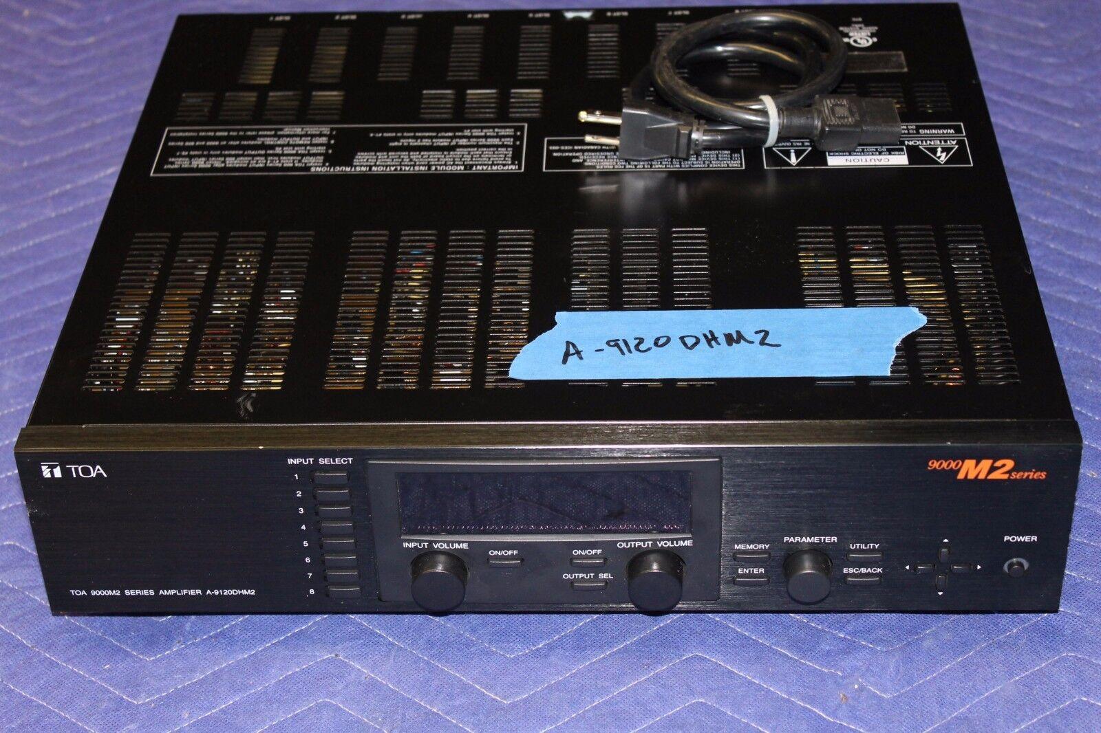 Toa a-9120dhm2 Mezclador De Audio Amplificador Amplificador Amplificador 120w X 2 Canales eb3421