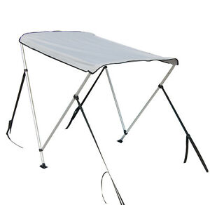 Details about Portable Bimini Top Cover Canopy For Length 2 3M - 3 3M  Inflatable Boat (2 bow)