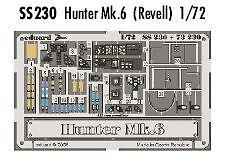 Eduard 1/72 Hawker Hunter Mk.6 colour etch for Revell # SS230
